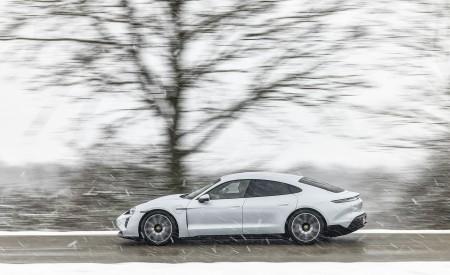 2021 Porsche Taycan (Color: Ice Grey Metallic) Side Wallpapers 450x275 (72)