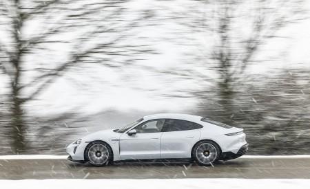 2021 Porsche Taycan (Color: Ice Grey Metallic) Side Wallpapers 450x275 (71)
