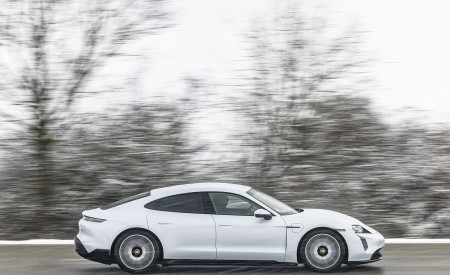 2021 Porsche Taycan (Color: Ice Grey Metallic) Side Wallpapers 450x275 (70)