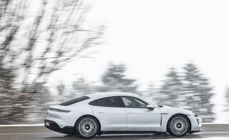 2021 Porsche Taycan (Color: Ice Grey Metallic) Side Wallpapers 450x275 (69)