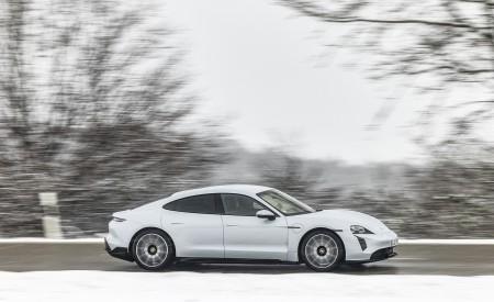2021 Porsche Taycan (Color: Ice Grey Metallic) Side Wallpapers 450x275 (68)
