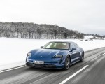 2021 Porsche Taycan (Color: Neptune Blue) Front Three-Quarter Wallpapers 150x120 (14)