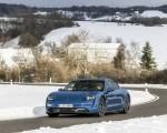 2021 Porsche Taycan (Color: Neptune Blue) Front Three-Quarter Wallpapers 150x120 (3)