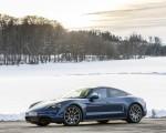 2021 Porsche Taycan (Color: Neptune Blue) Front Three-Quarter Wallpapers 150x120 (33)