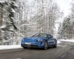 2021 Porsche Taycan (Color: Neptune Blue) Front Three-Quarter Wallpapers 150x120 (15)