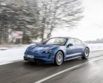 2021 Porsche Taycan (Color: Neptune Blue) Front Three-Quarter Wallpapers 150x120 (16)