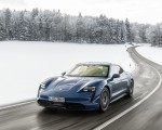 2021 Porsche Taycan (Color: Neptune Blue) Front Three-Quarter Wallpapers 150x120 (17)