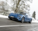 2021 Porsche Taycan (Color: Neptune Blue) Front Three-Quarter Wallpapers 150x120 (18)