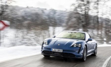 2021 Porsche Taycan (Color: Neptune Blue) Front Wallpapers 450x275 (19)