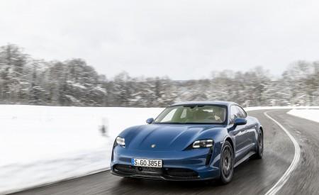 2021 Porsche Taycan (Color: Neptune Blue) Front Wallpapers 450x275 (20)