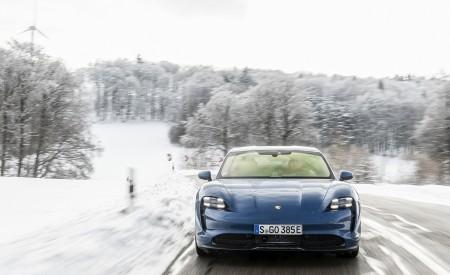 2021 Porsche Taycan (Color: Neptune Blue) Front Wallpapers 450x275 (21)