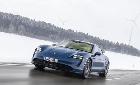 2021 Porsche Taycan (Color: Neptune Blue) Front Wallpapers 450x275 (4)
