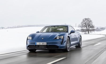 2021 Porsche Taycan (Color: Neptune Blue) Front Wallpapers 450x275 (5)
