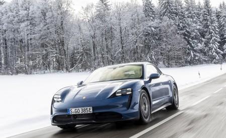 2021 Porsche Taycan (Color: Neptune Blue) Front Wallpapers 450x275 (23)