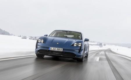 2021 Porsche Taycan (Color: Neptune Blue) Front Wallpapers 450x275 (6)