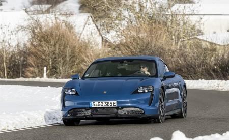 2021 Porsche Taycan (Color: Neptune Blue) Front Wallpapers 450x275 (7)