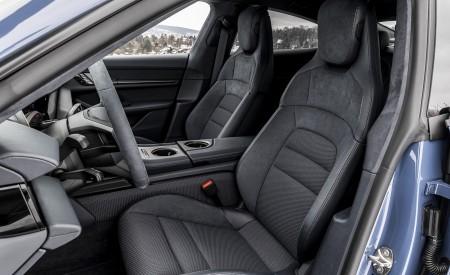 2021 Porsche Taycan (Color: Neptune Blue) Interior Front Seats Wallpapers 450x275 (52)