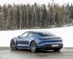2021 Porsche Taycan (Color: Neptune Blue) Rear Three-Quarter Wallpapers 150x120 (35)