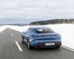 2021 Porsche Taycan (Color: Neptune Blue) Rear Three-Quarter Wallpapers 150x120 (24)