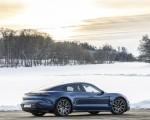2021 Porsche Taycan (Color: Neptune Blue) Rear Three-Quarter Wallpapers 150x120 (36)