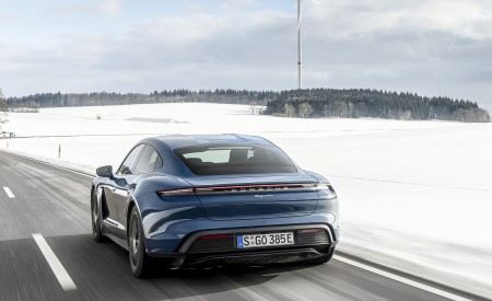 2021 Porsche Taycan (Color: Neptune Blue) Rear Wallpapers 450x275 (26)