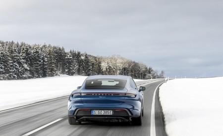 2021 Porsche Taycan (Color: Neptune Blue) Rear Wallpapers 450x275 (27)