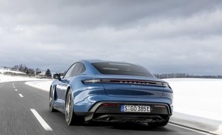 2021 Porsche Taycan (Color: Neptune Blue) Rear Wallpapers 450x275 (28)