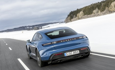 2021 Porsche Taycan (Color: Neptune Blue) Rear Wallpapers 450x275 (29)