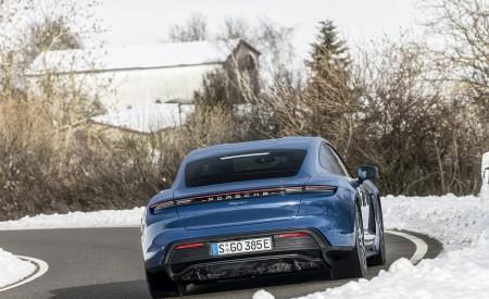 2021 Porsche Taycan (Color: Neptune Blue) Rear Wallpapers 450x275 (8)