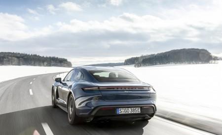 2021 Porsche Taycan (Color: Neptune Blue) Rear Wallpapers 450x275 (30)