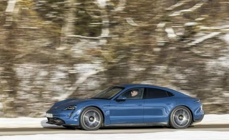 2021 Porsche Taycan (Color: Neptune Blue) Side Wallpapers 450x275 (12)
