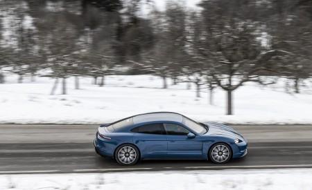 2021 Porsche Taycan (Color: Neptune Blue) Side Wallpapers 450x275 (31)
