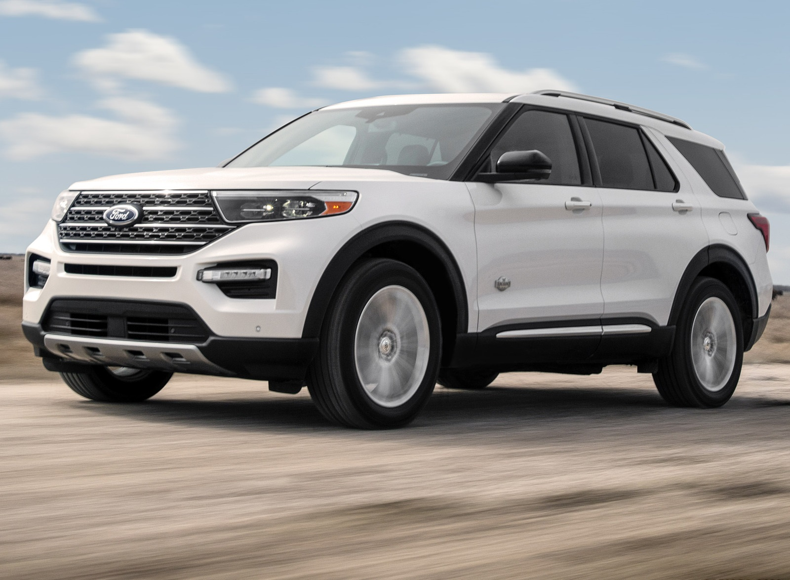 2021 Ford Explorer King Ranch Front Three-Quarter Wallpapers (3)
