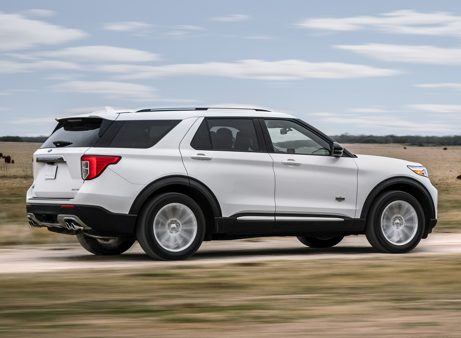 2021 Ford Explorer King Ranch Rear Three-Quarter Wallpapers (4)