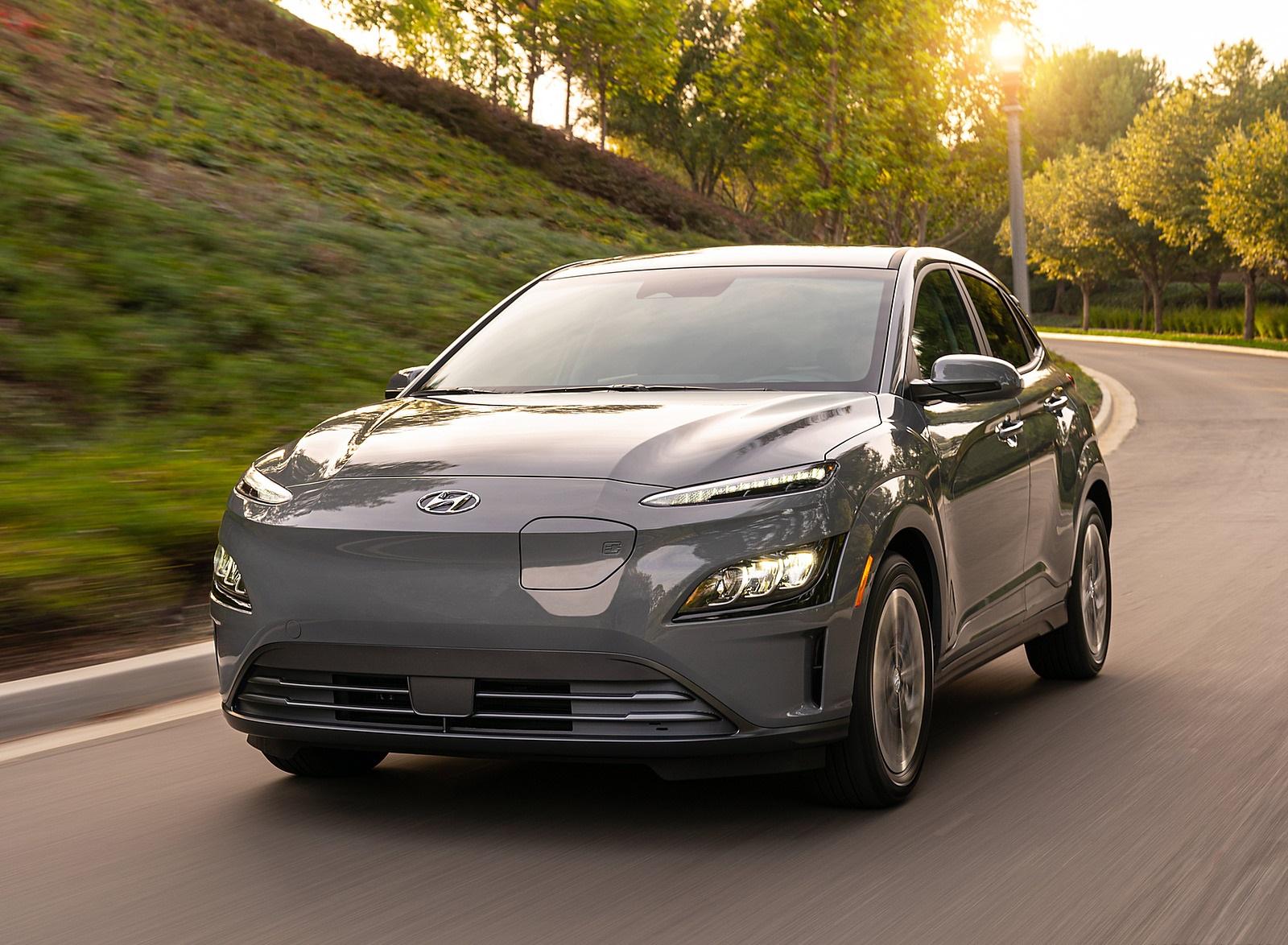 2022 Hyundai Kona Electric Front Wallpapers  (1)