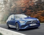 2022 Mercedes-Benz C-Class Wagon T-Model (Color: Spectral Blue) Front Wallpapers  150x120 (2)