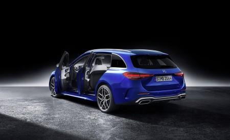 2022 Mercedes-Benz C-Class Wagon T-Model (Color: Spectral Blue) Rear Three-Quarter Wallpapers 450x275 (40)