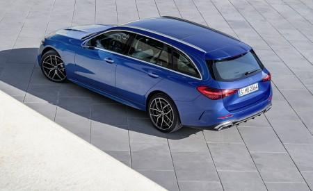 2022 Mercedes-Benz C-Class Wagon T-Model (Color: Spectral Blue) Rear Three-Quarter Wallpapers 450x275 (25)