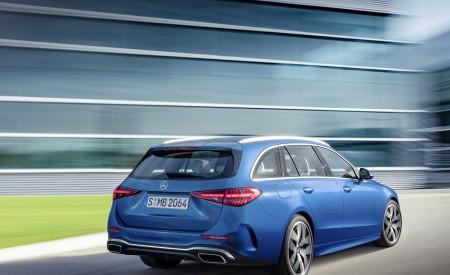 2022 Mercedes-Benz C-Class Wagon T-Model (Color: Spectral Blue) Rear Three-Quarter Wallpapers 450x275 (15)