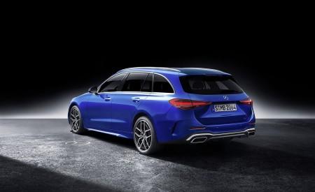 2022 Mercedes-Benz C-Class Wagon T-Model (Color: Spectral Blue) Rear Three-Quarter Wallpapers 450x275 (41)