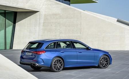 2022 Mercedes-Benz C-Class Wagon T-Model (Color: Spectral Blue) Rear Three-Quarter Wallpapers 450x275 (26)