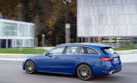 2022 Mercedes-Benz C-Class Wagon T-Model (Color: Spectral Blue) Rear Three-Quarter Wallpapers  450x275 (16)