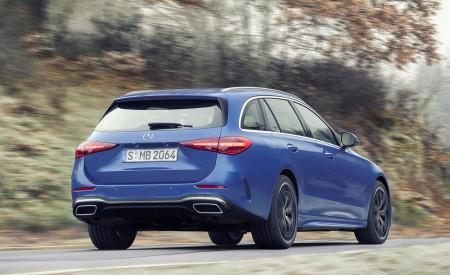 2022 Mercedes-Benz C-Class Wagon T-Model (Color: Spectral Blue) Rear Three-Quarter Wallpapers 450x275 (9)