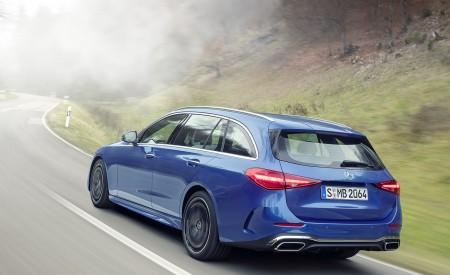 2022 Mercedes-Benz C-Class Wagon T-Model (Color: Spectral Blue) Rear Three-Quarter Wallpapers 450x275 (6)
