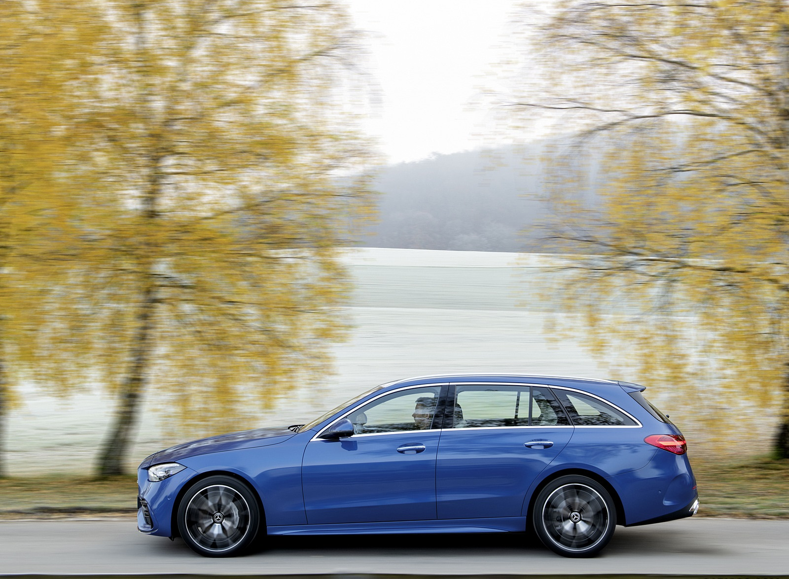 2022 Mercedes-Benz C-Class Wagon T-Model (Color: Spectral Blue) Side Wallpapers (10)