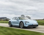 2022 Porsche Taycan 4S Cross Turismo (Color: Frozen Blue Metallic) Front Three-Quarter Wallpapers 150x120 (47)