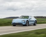2022 Porsche Taycan 4S Cross Turismo (Color: Frozen Blue Metallic) Front Three-Quarter Wallpapers 150x120 (48)