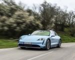 2022 Porsche Taycan 4S Cross Turismo (Color: Frozen Blue Metallic) Front Wallpapers 150x120 (49)