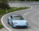 2022 Porsche Taycan 4S Cross Turismo (Color: Frozen Blue Metallic) Front Wallpapers 150x120 (44)