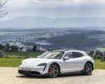 2022 Porsche Taycan 4S Cross Turismo (Color: Ice Grey Metallic) Front Three-Quarter Wallpapers 150x120 (18)